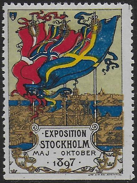 Classic Stockholm poster stamp